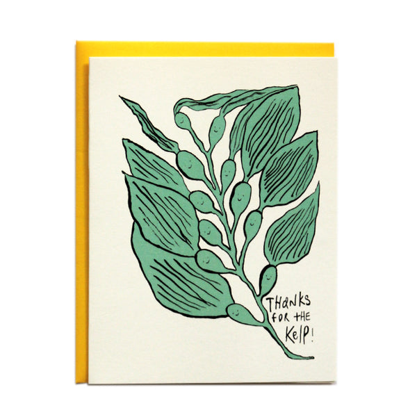 Thanks for the Kelp Greeting Card