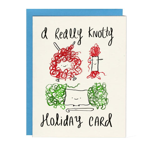 Knotty Holiday Card