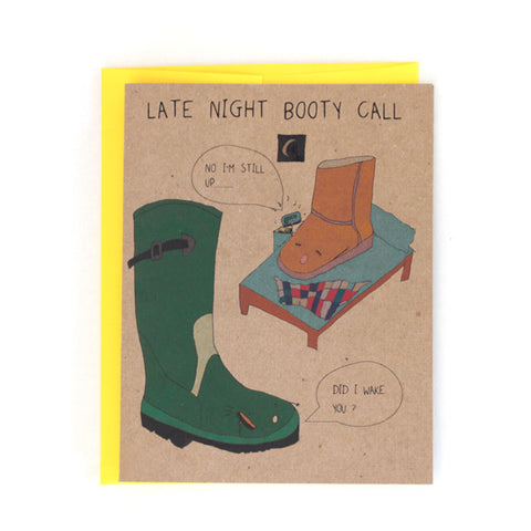 Late Night Booty Call Greeting Card