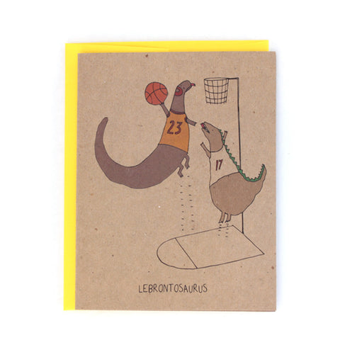 Lebrontosaurus Greeting Card