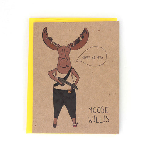Moose Willis greeting card