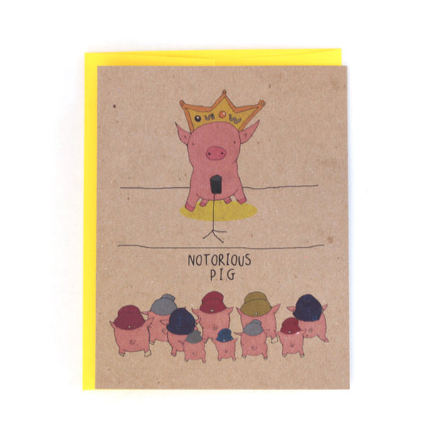 Funny Notorious PIG Rap hip hop Greeting Card