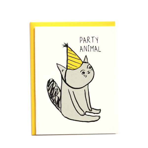 Party Animal Cat Birthday Card