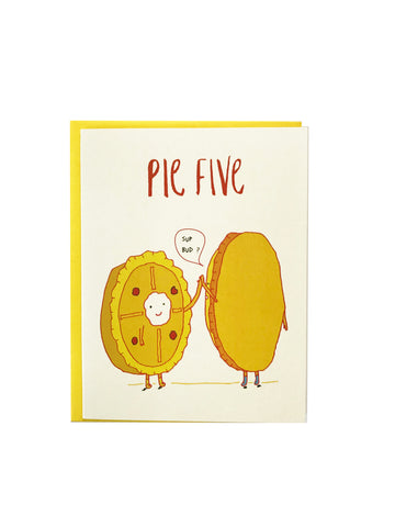 Pie Five Greeting Card