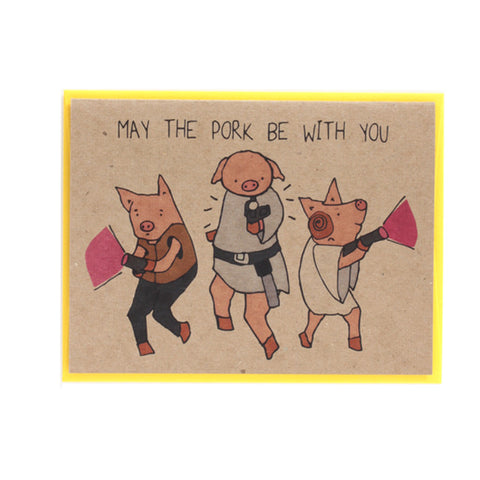 May the Pork be with You Star Wars Card