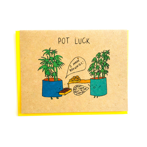 Pot Luck Greeting Card
