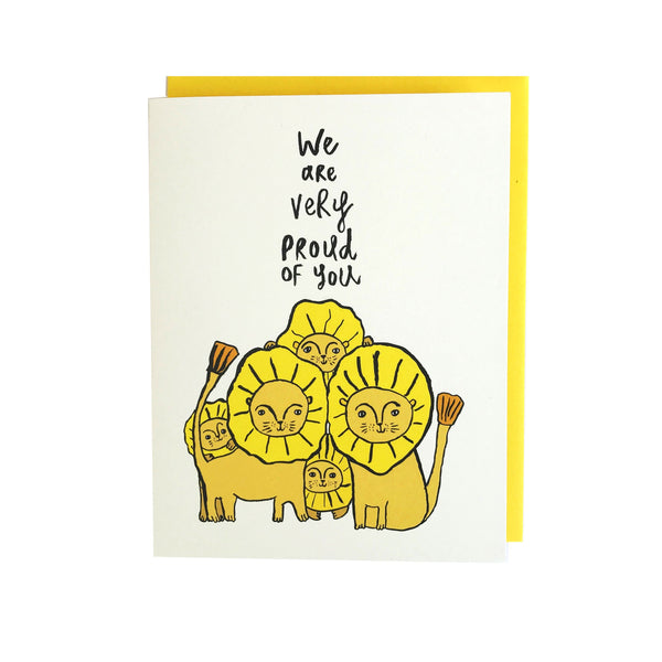 We are very proud of you greeting card