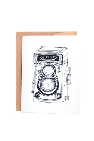 Rolleiflex Vintage Camera Greeting Card