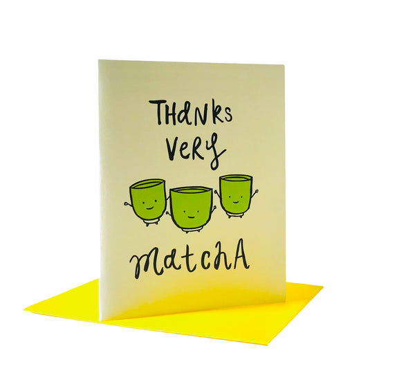 Thanks very Matcha Greeting Card