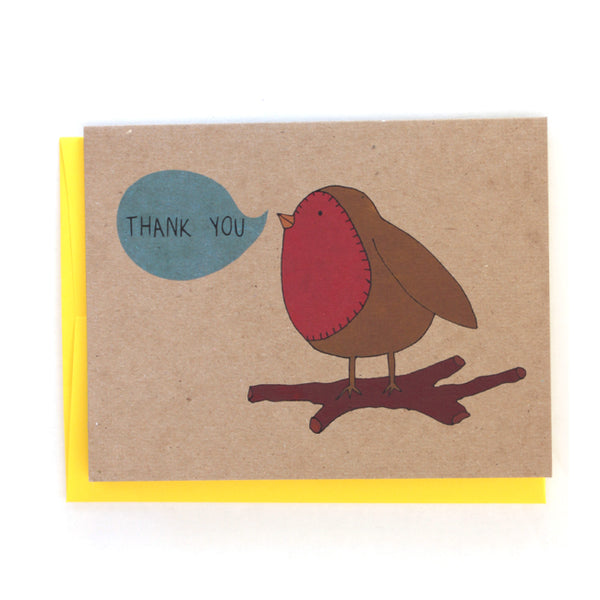 Thank you Bird Greeting Card