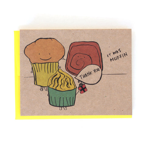 Thank You Muffin Greeting Card