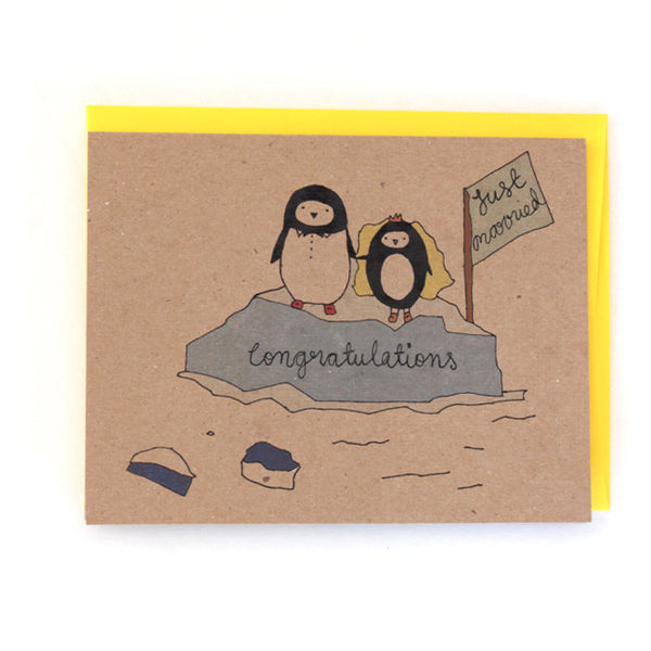 Wedding Penguins Greeting Card