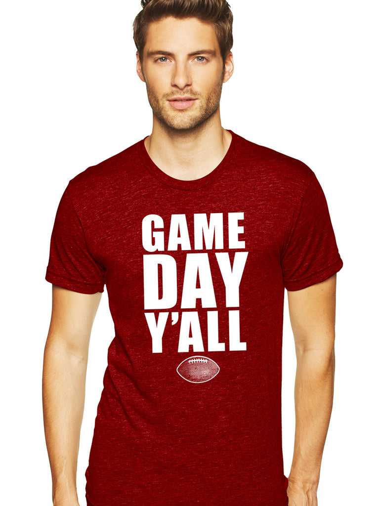 Maroon/White Athletic Gameday Y'all Tee