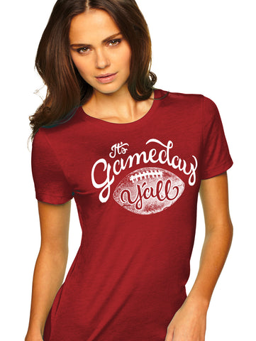 Maroon/White Script Gameday Y'all Tee