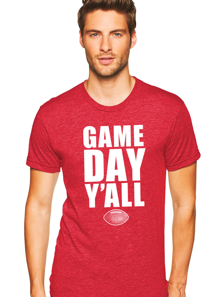 Red/White Athletic Gameday Y'all Tee