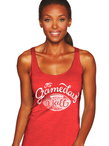 Red/White Script Gameday Y'all Tank