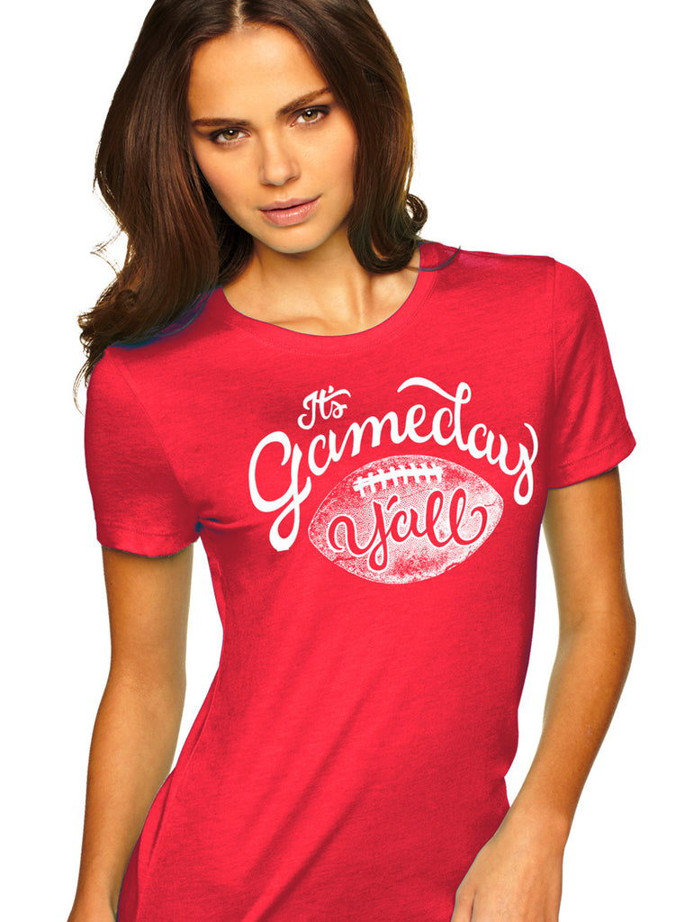 Red/White Script Gameday Y'all Tee