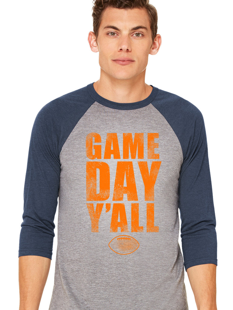 Navy/Orange Athletic Gameday Y'all Baseball Tee
