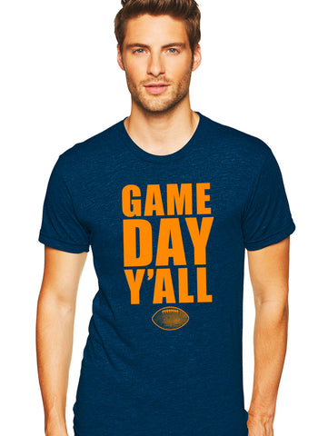 Navy/Orange Athletic Gameday Y'all Tee