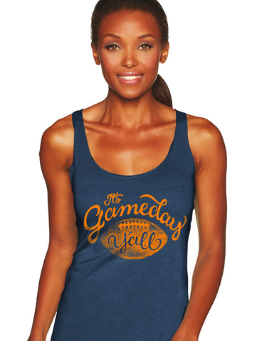 Navy/Orange Script Gameday Y'all Tank