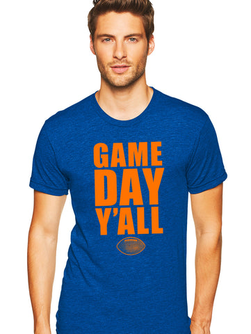 Royal/Orange Athletic Gameday Y'all Tee
