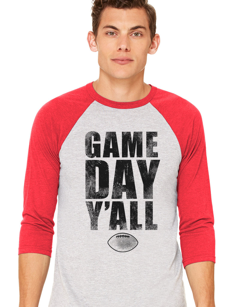 Red/Black Athletic Gameday Y'all Baseball Tee