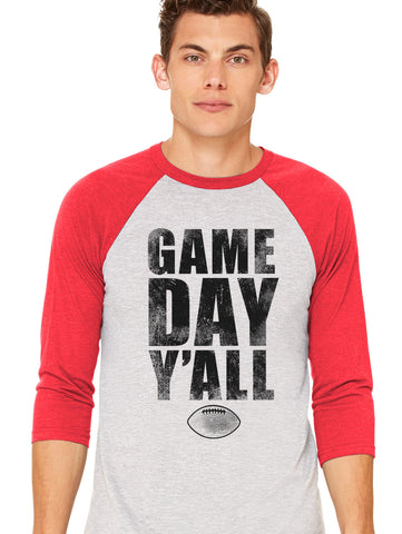 Georgia Athletic Gameday Y'all Baseball Tee