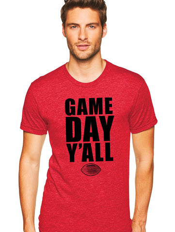 Red/Black Athletic Gameday Y'all Tee