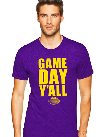 Purple/Gold Athletic Gameday Y'all Tee