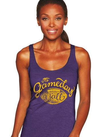 Purple/Gold Script Gameday Y'all Tank