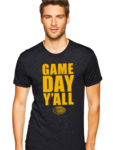 Black/Gold Athletic Gameday Y'all Tee