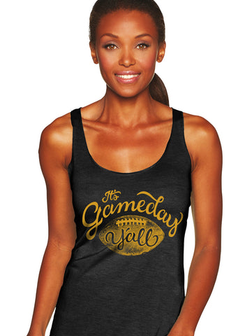 Black/Gold Script Gameday Y'all Tank