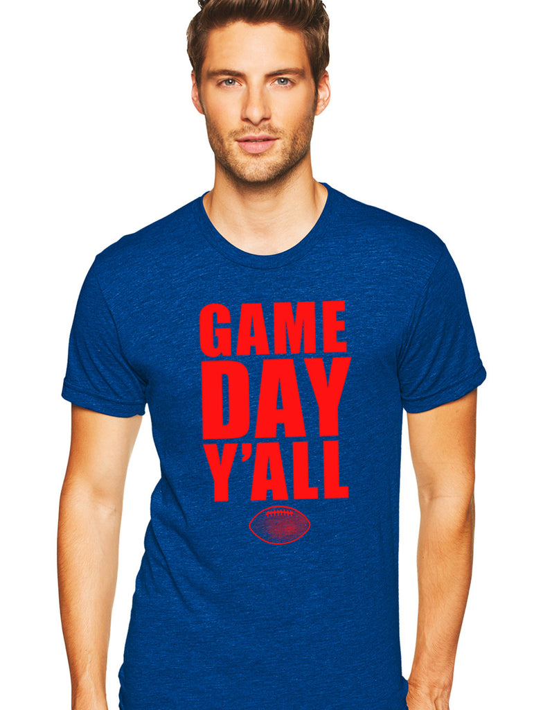 Royal/Red Athletic Gameday Y'all Tee
