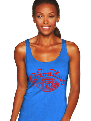 Royal/Red Script Gameday Y'all Tank