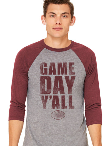 South Carolina Athletic Gameday Y'all Baseball Tee
