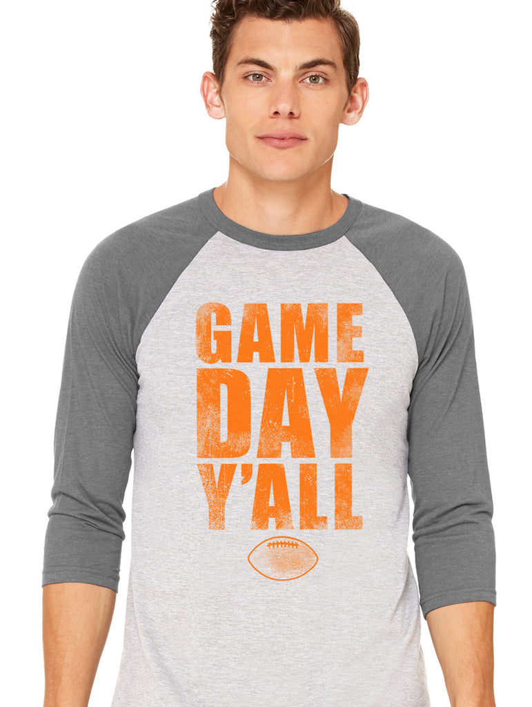Tennessee Athletic Gameday Y'all Baseball Tee