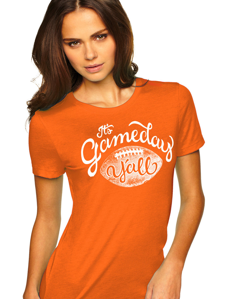 Orange/White Script Gameday Y'all Tee