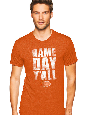 Burnt Orange/White Athletic Gameday Y'all Tee