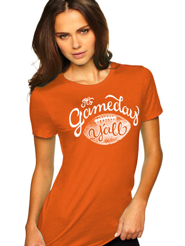 Burnt Orange/White Script Gameday Y'all Tee