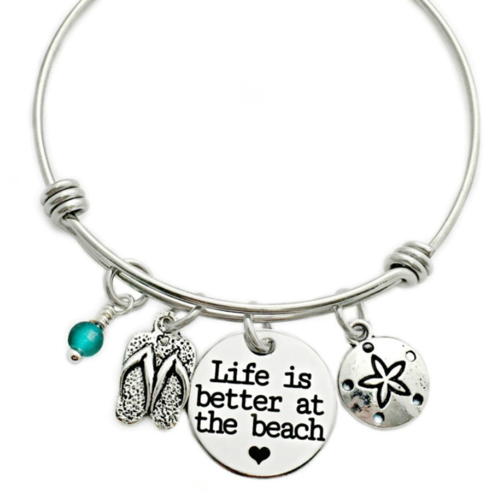 LIFE IS BETTER AT THE BEACH BANGLE BRACELET