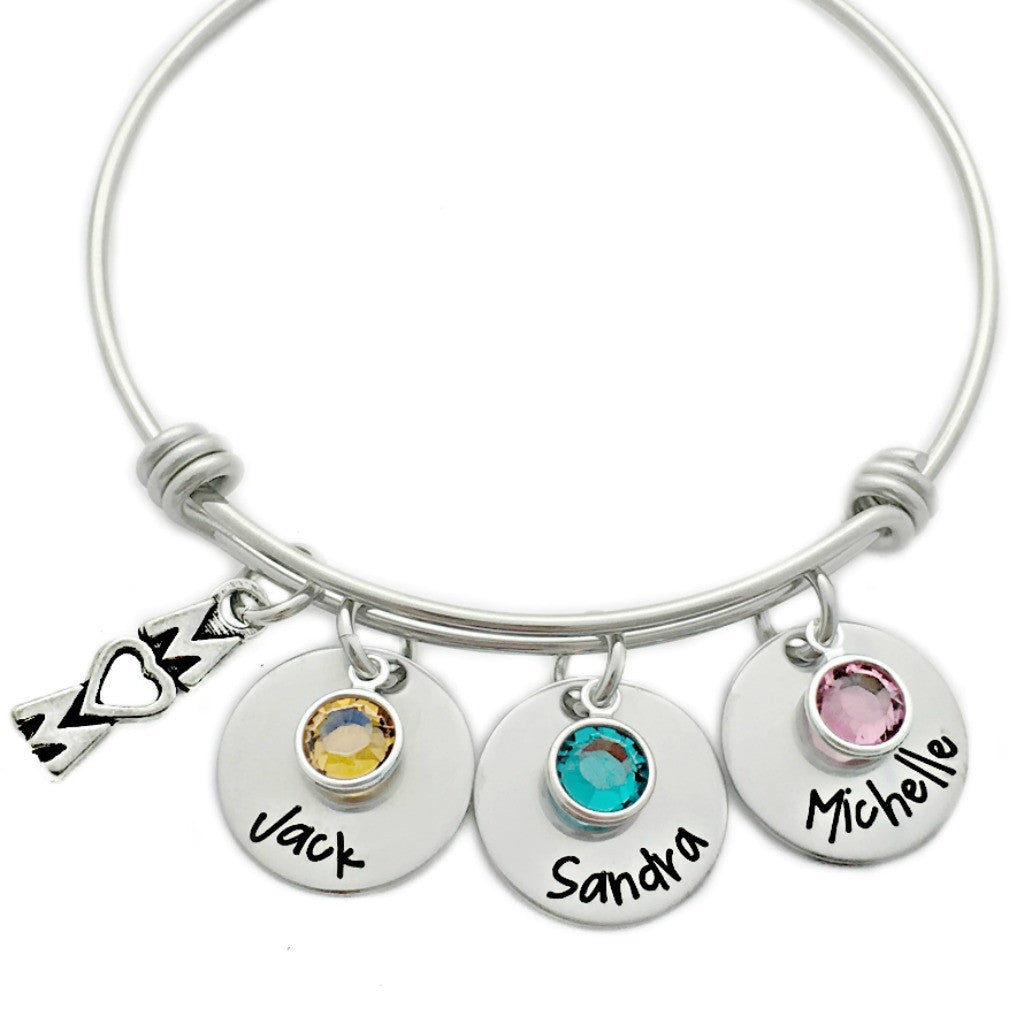 MOM CHARM BANGLE BRACLET