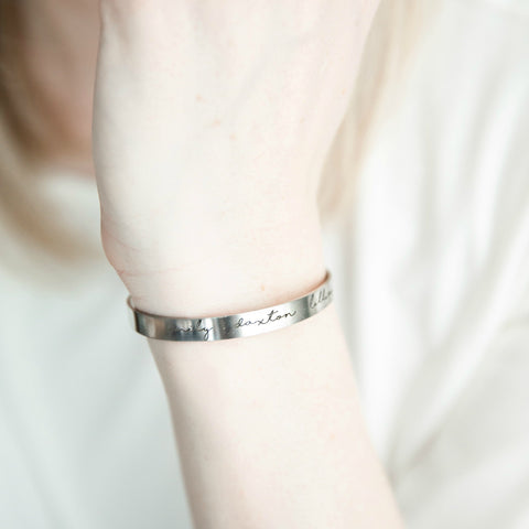 HANDWRITING CUFF BRACELET