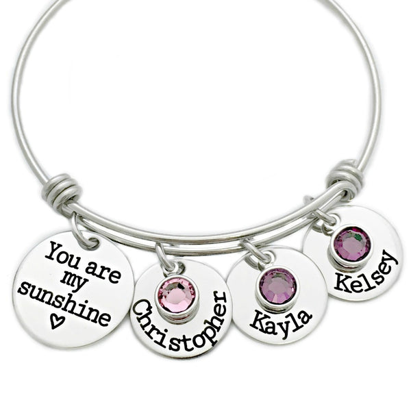 YOU ARE MY SUNSHINE BANGLE BRACELET 2