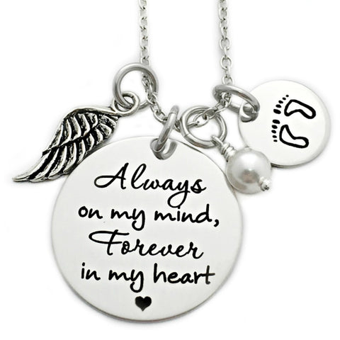 ALWAYS ON MY MIND MEMORIAL NECKLACE