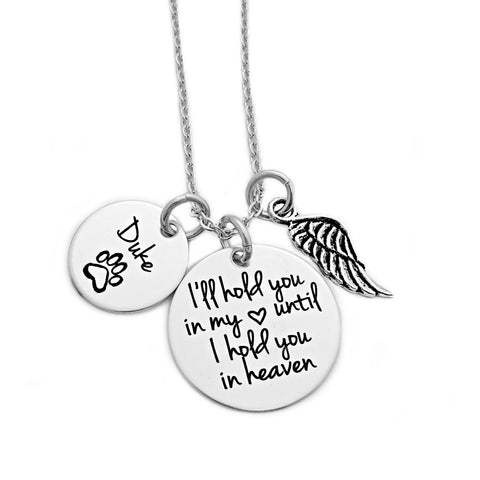 PET MEMORIAL I'LL HOLD YOU IN MY HEART NECKLACE