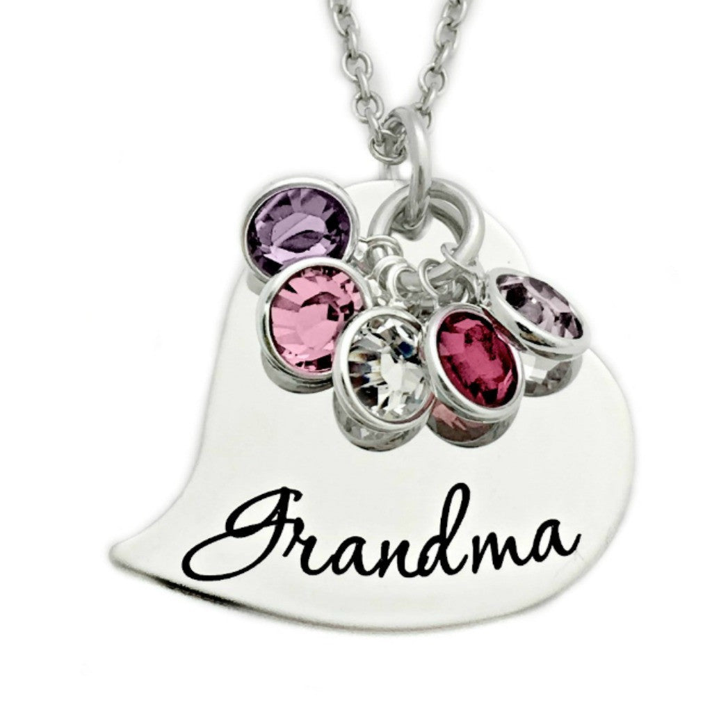 hand grandma edited disc stamped necklace lockets silver family of sterling life at sweet tree