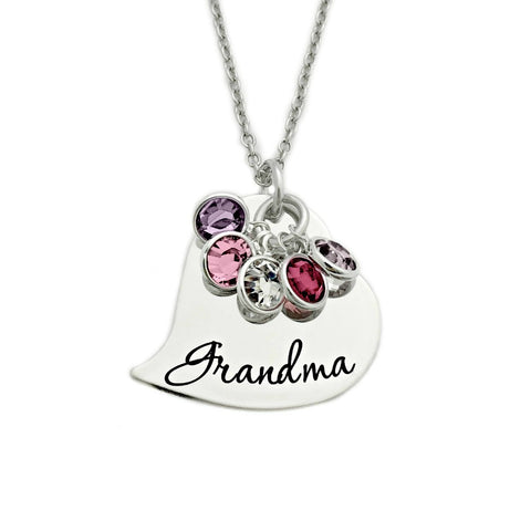 CURSIVE GRANDMA HEART NECKLACE