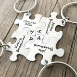 NAME AND TITLE BRIDESMAID KEYCHAIN