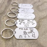 CHILD'S ARTWORK & HANDWRITING KEYCHAIN