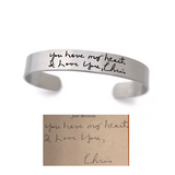 "3/8"" HANDWRITING CUFF BRACELET"